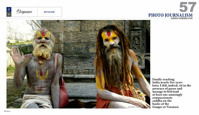 """India: An Inspriational Journey Through The Land Of Mystics."" Writer/Photographer."