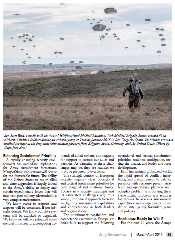 Army Sustainment Magazine