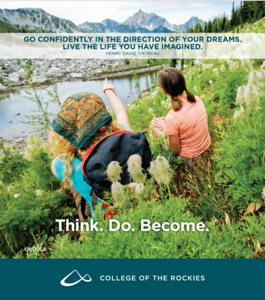 College of the Rockies, View Book Cover Image, 2018