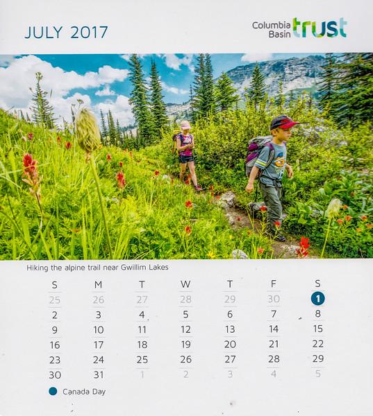 Columbia Basin Trust Calendar, 2017