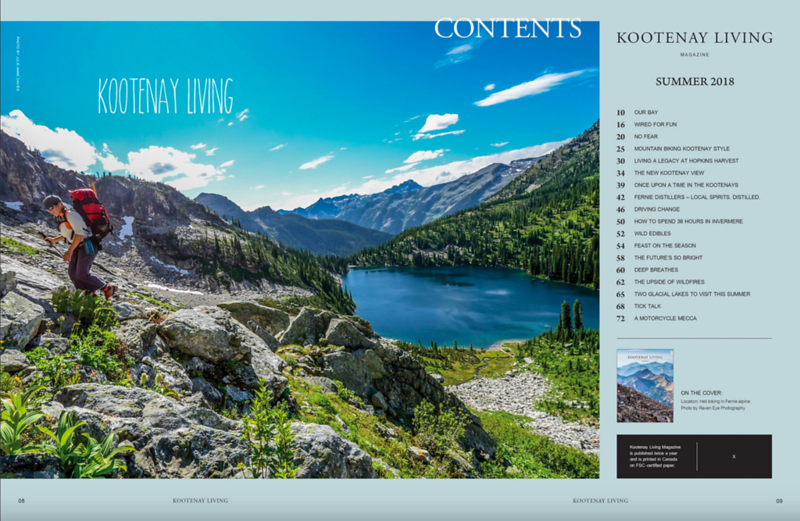 Kootenay Living Magazine, Summer 2018