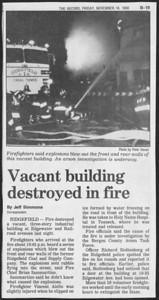 The Bergen Record,  Ridgefield NJ,  November 14th 1986