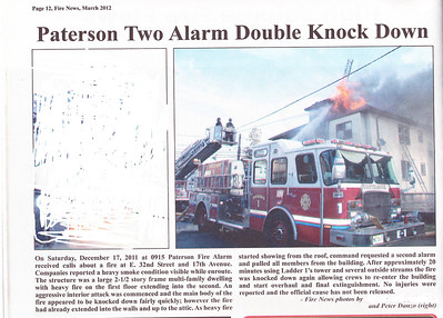 Fire News NJ  March 2012