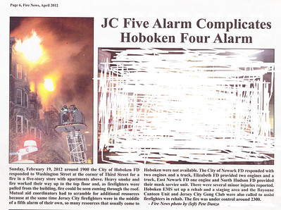 Fire News NJ April 2012