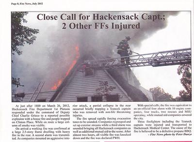 Fire News NJ  July 2012