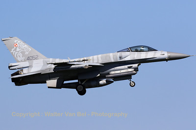 Polish Air Force F-16CJ (4052; cnJC-13) recovering to Leeuwarden Air Base after another Frisian Flag 2016 mission.