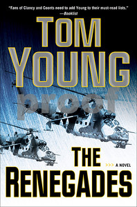 "Cover of the novel ""The Renegades"" by Tom Young (Penguin Books)."