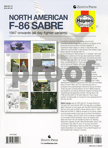 """Back page of """"North American F-86 Sabre"""" by Mark Linney"""