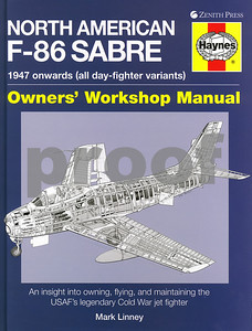 """Front page of """"North American F-86 Sabre"""" by Mark Linney"""
