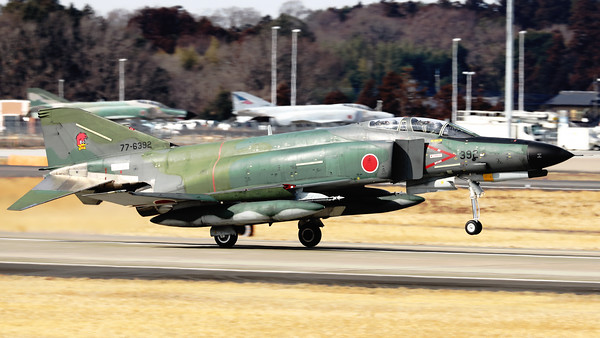 JASDF RF-4EJ (77-6392; cnM092) from 501 Hikotai, seen here on take-off at Hyakuri, at the start of another recce-mission. The 501st Tactical Reconnaissance Squadron is a squadron of the Japan Air Self-Defense Force based at Hyakuri Air Base (Ibaraki Airport) in Ibaraki Prefecture, Japan.