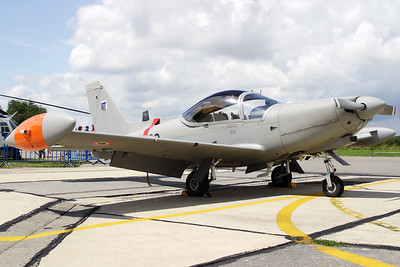 """A very nice Italian Air Force SF-260EA Marchetti (MM55127; 70-36; cnEA030) visited Beauvechain AFB for the celebration of """"40 years Marchetti in the Belgian Air Force""""."""