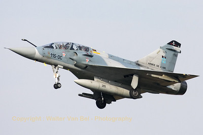 French Air Force Mirage 2000B from EC2/5 (Ile de France), visiting Cambrai-Epinoy for the fly-out ceremony of EC1/12.