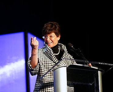 My photo of White House adviser Valerie Jarrett appeared on Wall Street Journals' website, http://online.wsj.com/article/SB10001424052748704471204575210751254846816.html Jarrett, a long-time adviser to President Obama and manager of the White House Office of Public Engagement, was a keynote speaker who addressed about 1,500 members of the nation's philanthropic community during the Council on Foundations annual meeting in Denver 20010.