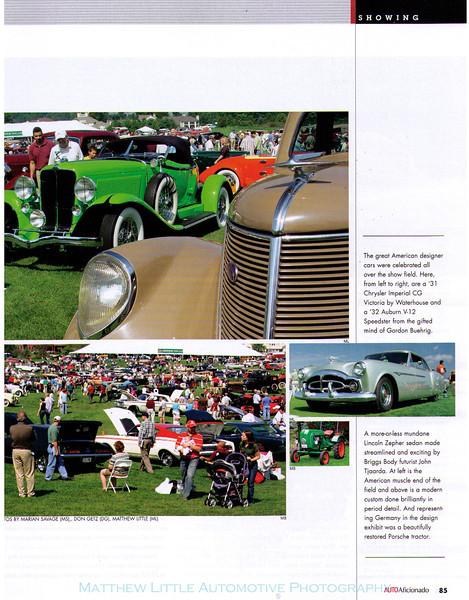 The 2006 Glenmoor Gathering from the Jan/Feb 2007 issue of Auto Aficionado magazine