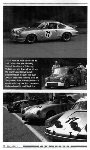2011 Challenge magazine published by the Connecticut Valley Region Porsche Club of America