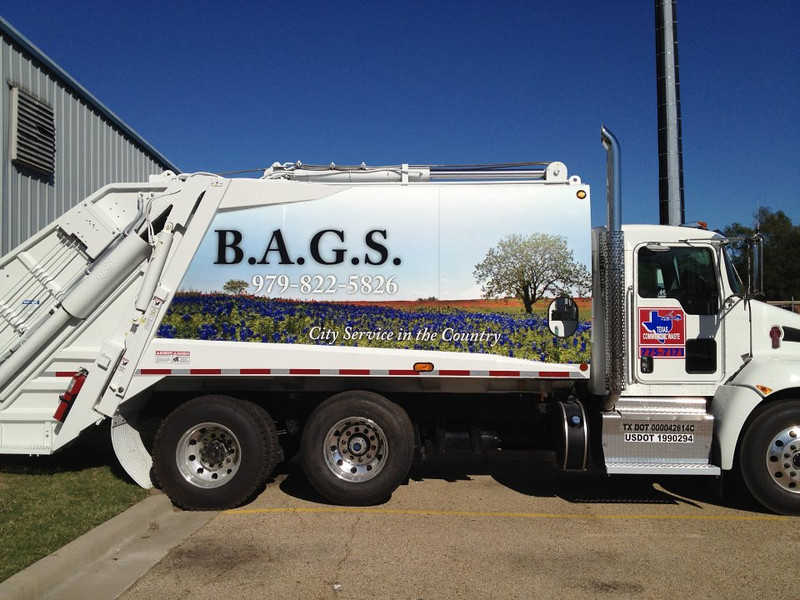 B.A.G.S. Texas Commercial Waste Truck, Bryan, Texas 2011