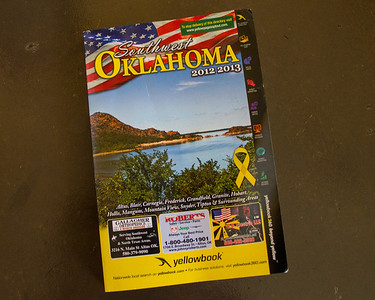 The cover of the Southwest Oklahoma Yellow Book 2012-2013