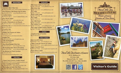 Mineral Wells, Texas - Chamber of Commerce Brochure (outside) 2011