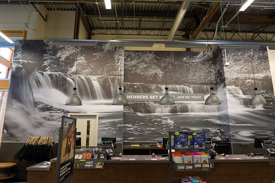 Chagrin River Falls REI Columbus - Easton Ohio, Store Mural