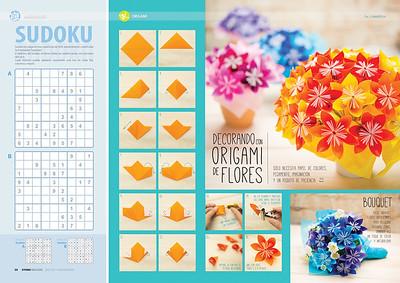 Decorando con origami de flores (Kyodai Magazine 186, dic2015, ene-feb 2016)