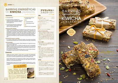 Barritas energéticas de kiwicha, estilo Marisol (Kyodai Magazine 198 may., jun. .2018)