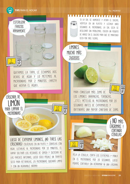 """Tips para el hogar"" (Kyodai Magazine 189, jul.ago.sep.2016)"