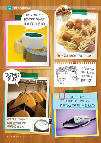 """Tips para el hogar"" (Kyodai Magazine 187, mar.abr.2016)"