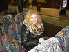 Posh lady <br /> <br /> sits on Brewery tour coach waiting to go back to Southport