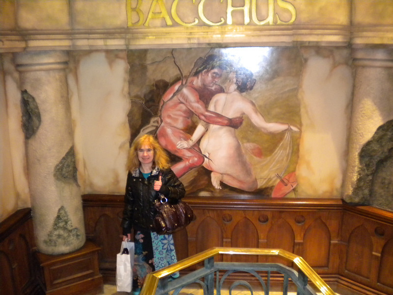 """Baccus Bar <br /> <br /> Birmingham <br /> <br /> Address:<br /> <br />  126 New St B2 4JH<br /> <br />  located inside the Burlington Arcade <br /> <br /> Directions from New St<br /> <br />  leave from the Wolverhampton end Entrance turn right and just walk straight down till you see the Burlington arcade walk into the Arcade the pub entrance stairs on the left go down the stairs and through the door into what i think is a hidden gem that is an amazing pub 5 mins walk from New St Station<br /> <br />  hidden away in the Burlington Arcade <br /> <br /> Liz stands under the awesome Marble work on the steps leading down to the entrance check out the next few pics this place is amazing<br /> <br /> Website: <br /> <br />  <a href=""""http://www.nicholsonspubs.co.uk/bacchusbarbirmingham/"""">http://www.nicholsonspubs.co.uk/bacchusbarbirmingham/</a>"""