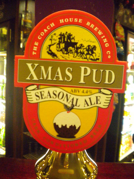 Southport Wetherspoons <br /> <br /> Xmas 2012 <br /> <br /> and they had this awesome beer from Coach House <br /> <br /> No body was drinking it but i and a few mates of mine we drank pints of this amazing awesome brew <br /> <br /> And yes it did taste just like alcoholic Xmas pudding