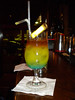 Killer Doppi <br /> <br /> Four different Types of RUM <br /> <br /> Apricot Liqueur /  Blue Curacao / Pineapple Juice & Lime