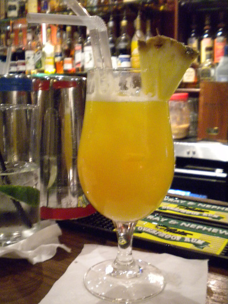Yellow Bird Rum Cocktail <br /> <br /> I had one of these and they seriously nice <br /> <br /> it got pineapple Juice and banana in it as well and of course RUM