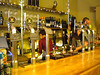 Close up of the pumps in the bar