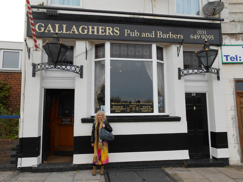 Gallaghers Pub and Barbers <br /> <br /> Hamilton Square <br /> <br /> 11th April 2014 <br /> <br /> while doing the spoons Beerfest on way back from Lady Lever Gallery some fella in Hamilton Square spoons tipped us off about <br /> <br /> this place and we weren't disappointed top pub if you like military <br /> <br /> and ships and having a shave and hair cut <br /> <br /> Not only can you have a pint here but if you go in the back you can <br /> <br /> get a hair cut and a wet shave