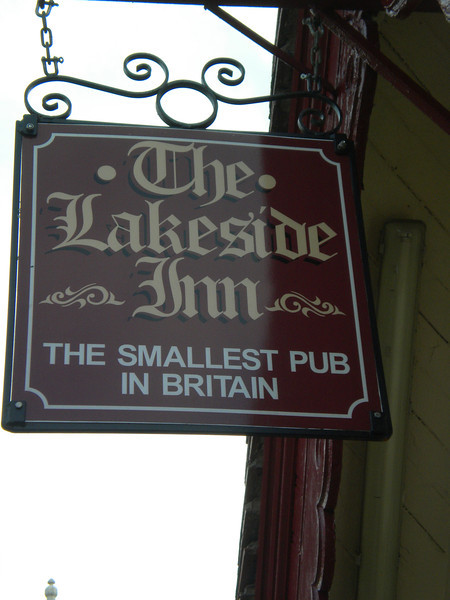 The Lakeside Inn <br /> <br /> Southport <br /> <br /> Holds the Guinness world Record for being the Smallest pub in the <br /> <br /> UK ok some may dispute this but i'm only going on what it says inside