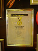 Guinness Book of Records certificate for being the smallest pub in the UK