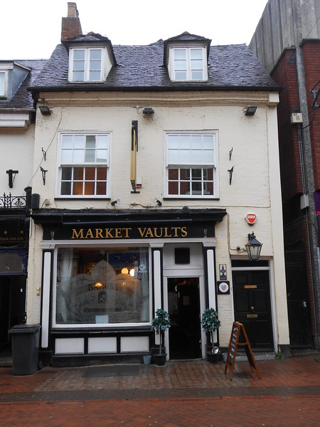 outside of the Market vaults in the town centre