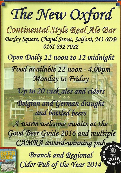 Advert for pub from Local CAMRA Mag