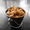 Peanuts as well in rather neat and big metal buckets nice touch i thought