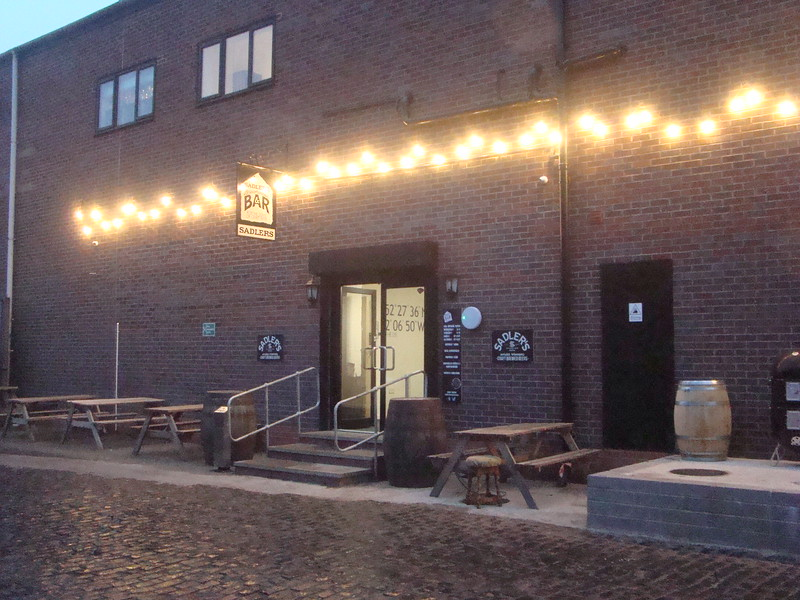 Outside of Sadlers brewery new beer ale house top place and less than <br /> <br /> a minutes walk from train station