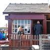Liz outside the Signal Box Inn