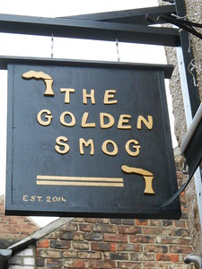 Pub sign on the wall