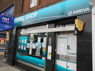 As a way of knowing you have the right place the Entrance to   Hambletonian lane is next to the Arriva bus travel shop