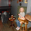 Liz enjoying a drink after a long day doing Shildon and Flying Scotsman