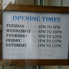 Opening times of Split Chimp