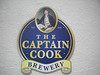 Captain Cook Brewery sign on wall