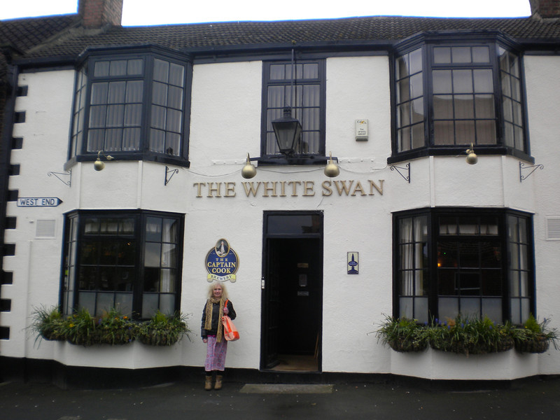 "The White Swan <br /> <br /> Stokesley <br /> <br /> 26th April 2014 <br /> <br /> Liz used to work in Stokesley many moons ago, and we first came <br /> <br /> here in 2009 for the Cheese and Beer Festival which is amazing <br /> <br /> Top little boozer this proper old fashioned country pub with proper <br /> <br /> fire and wait for it up to 15 beers on tap YES 15!! <br /> <br /> Also home of the Captain Cook Brewery out the back of the Pub <br /> <br /> Website: <br /> <br /> <a href=""http://www.thewhiteswanstokesley.co.uk/"">http://www.thewhiteswanstokesley.co.uk/</a>"