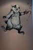 Stumblin Badger beer painting on the wall in the Windsor castle Pub Lye Stourbridge