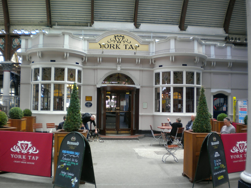 "York Tap <br /> <br /> York Railway Station <br /> <br /> Sister pub to Pivni in town and just as awesome beer range well worth stopping off for a pint here before going home <br /> <br /> website <br /> <br /> <a href=""http://www.yorktap.com/"">http://www.yorktap.com/</a>"