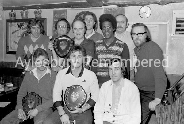 Barleycorn darts team, 1980